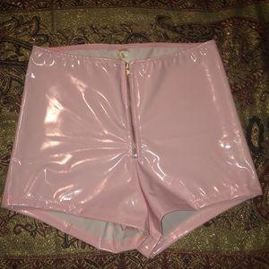 High waisted rave shorts